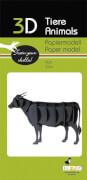 fridolin - 3D Papiermodell - Kuh, Spezialkarton, gelasert