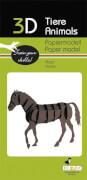 fridolin - 3D Papiermodell - Pferd, Spezialkarton, gelasert