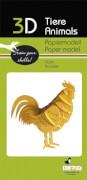 fridolin - 3D Papiermodell - Hahn, Spezialkarton, gelasert