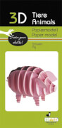fridolin - 3D Papiermodell - Schwein, Spezialkarton, gelasert