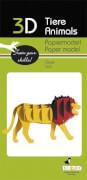 fridolin - 3D Papiermodell - Löwe, Spezialkarton, gelasert