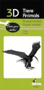 fridolin - 3D Papiermodell - Adler, Spezialkarton, gelasert