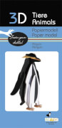 fridolin - 3D Papiermodell - Pinguin, Spezialkarton, gelasert