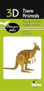 fridolin - 3D Papiermodell - Känguru, Spezialkarton, gelasert