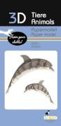 fridolin - 3D Papiermodell - Delfin, Spezialkarton, gelasert