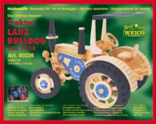 Weico Holzbausatz Traktor Lanz Bulldog, ca. 170x150x95 mm, ab 6 Jahren