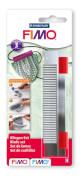 FIMO® 8700 04 Cutter Blisterkarte mit 1 starren, 1 flexiblen und 1 geriffelten Klinge.