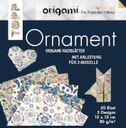 Origami Faltblätter Ornament
