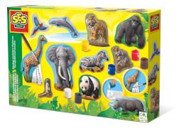 Relief giessen Wilde Tiere