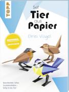 Tier aus Papier Drei Vögel