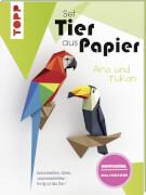 Tier aus Papier Tukan & Ara