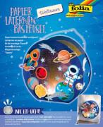 Papier Laternen-Bastelset Weltraum