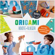 Die Spiegelburg 62505 100 % selbst gemacht - Origami Boote + Flieger, 40 Blatt, über 50 Sticker, ab 8 Jahren
