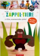 Coppenrath Verlag 62570 100 % selbst gemacht - Taschenbuch ''Zappel-Tiere - 6 x falten, zusammenstecken, spielen!'', 28 Seiten, ab