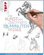 Kunst des Zeichnens 15 Min.-Pferde