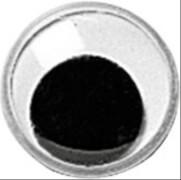 Wackelaugen, 14 mm, schwarz/weiss