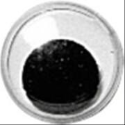 Wackelaugen, 12 mm, schwarz/weiss