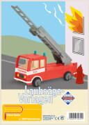 PEBARO Laubsägevorlage Feuerwehrauto 3D