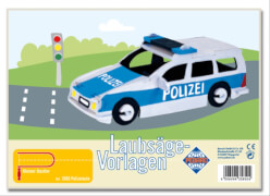 PEBARO Laubsägevorlage Polizeiauto 3D