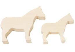 HABA - Terra Kids - Schnitzrohlinge Pferde