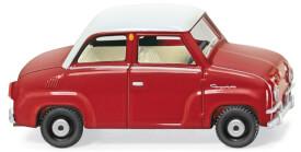 Wiking Glas Goggomobil - rot/weiß