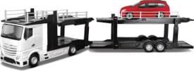 Bburago 1:43 StreetFire Mercedes Actros Autotransporter sortiert, WB