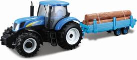 BBURAGO HK - BB 1:32 New Holland Traktor mit Anhänger, sortiert