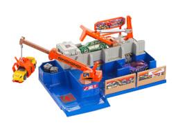 Mattel Hot Wheels Car Crusher Trackset + 5 Autos