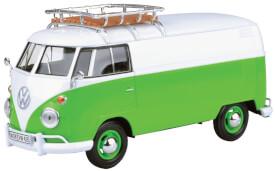 MM79551 VW T1 mit Dachträger, grün/weiss
