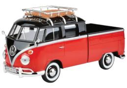 MM79552 VW T1 mit Dachträger, schwarz/rot