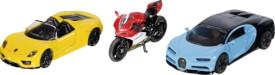 Siku 6313 Sportwagen und Motorrad