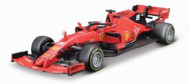 Bburago Ferrari Racing F1 1:43 Ferrari SF90, 2019 mit Fahrer Vettel, Hardcase