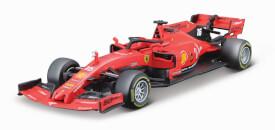 Bburago Ferrari Racing F1 1:43 Ferrari SF90, 2019 mit Fahrer Leclerc, Hardcase