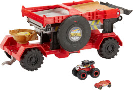 Mattel GFR15 Hot Wheels Monster Trucks 2-in-1 Crashrennen-Truck