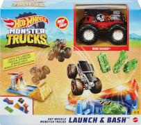 Mattel GVK08 Hot Wheels Monster Trucks Startrampen-Crash