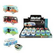 TOITOYS METAL Bus FlowerPowerL-T, 4-fach sortiert