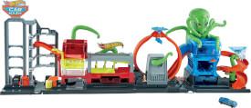 Mattel GTT96 Hot Wheels City Color Reveal Ultimative Auto-Waschanlage