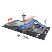 Mattel HCN34 Matchbox Flughafen Spielset mit Geräuschen