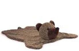 Bären Teppich Plüsch braun