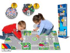 Spielteppich mit Autos, Verkehrszeichen