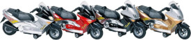 GoKi Motorroller mit Sirene + Licht, Spritzguss