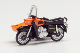 Herpa MZ 250 mit Beiwagen, orange