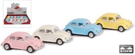VW Käfer Classic pastellfarben DieCast Pullback 4farbig sort.1:64