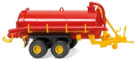 Wiking Vakuumfasswagen rot/gelb