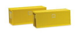 Herpa Zubeh. Baucontainer 2St, gelb