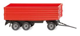 H0 Landwirtschaftlicher Dreiachsanhänger - rot
