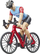 Bruder 63110 bworld Rennrad mit Radfahrer