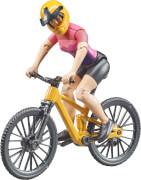 Bruder 63111 bworld Mountainbike mit Radfahrerin