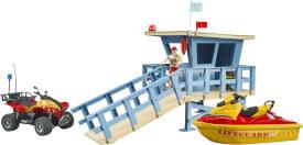 Bruder 62780 bworld Life Guard Station mit Quad und Personal Water Craft