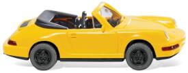Wiking Porsche Carrera Cabrio - gelb